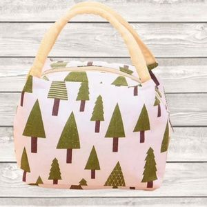 Insulated Lunch Tote, with Fun Holiday/Pine Tree Graphic